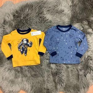 Pekkle | Boys' PJ Shirts | Astronaut | Yellow/Blue